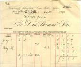 Aberthaw lime merchant, 1895 invoice