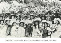 Sunday School outing, Llandough Castle 1910
