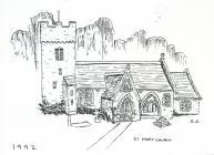 St Mary Church church, nr Cowbridge