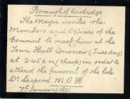 Dr Sheperd MOH of Cowbridge 1901