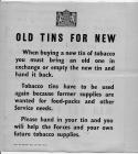 Recycling of tobacco tins notice 1939