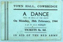 Dance in aid of the Red Army, Cowbridge 1944