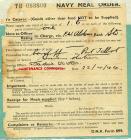 Navy meal order form 1944