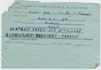 Gift to servicemen from Cowbridge, 1944
