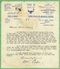 Toc H War Fund letter of thanks 1945