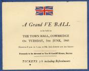 V E Ball, Cowbridge 1945