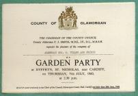 Garden Party, Dyffryn House, nr St Nicholas 1960