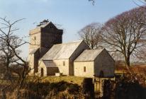 Llanfrynach church, near Cowbridge 1991