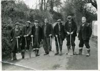 Council road workers, Cowbridge, late 1960s