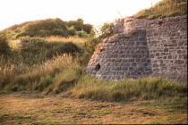 Stone wall feature, Aberthaw
