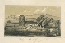 Llanfrynach church, near Cowbridge ca 1850