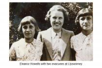 Eleanor Howells & evacuees, Llysworney