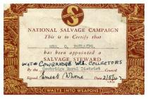 W I Salvage Campaign, Cowbridge 1942