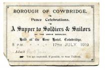 Supper for soldiers & sailors, Cowbridge 1919