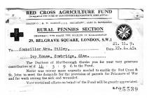 Red Cross Agriculture Fund 1945