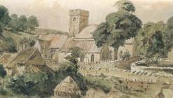 St Illtyd's church, Llantwit Major 1861