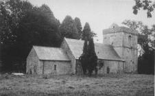 Llanfrynach church, near Cowbridge 1970s