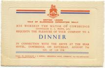 British Legion Coronation dinner, Cowbridge 1937