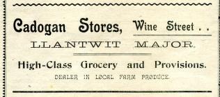 Cadogan Stores, Llantwit Major 1918