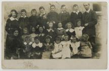 Cwmystwyth Council School class undated