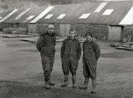 Workers at Aberllefenni Quarry, Machynlleth