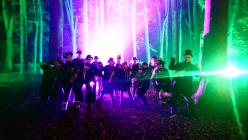 Wonderbrass playing the Halloween parade at St...