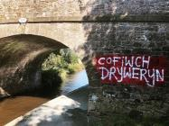 Murlun Cofiwch Dryweryn, Llangollen, Pont 34W