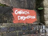 Cofiwch Dryweryn Mural, Llangollen Bridge 39W