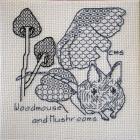 Woodmouse & Mushrooms by Ceridwen Stringer