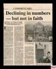 Newspaper article about the decline in Cardiff...
