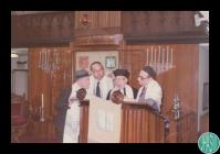 Photograph of Rabbi Graf with the Cardiff New...