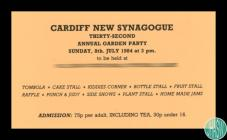 Invitation to Cardiff New Synagogue Thirty...