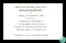 Invitation to Cardiff New Synagogue Ladies'...