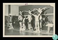 Photograph of youth group gymnastics exhibition...