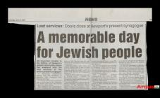 Newspaper article on closure of the Queen'...
