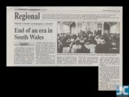 Newspaper article on the service held to mark...