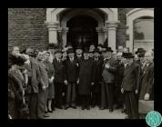 Photograph of the opening of the Jewish Home...