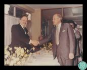 Photograph of Chief Rabbi Immanuel Jakobovits&...