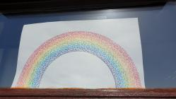 Rainbows in Windows by Jessica, April 2020