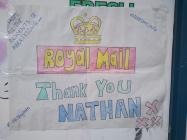 Thank you messages written to postman Nathan by...