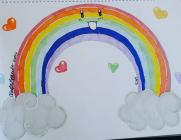 Rainbows in Windows by Kirsty, March 2020