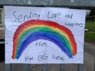 Rainbows in Windows at Ysgol Bro Famau, April 2020