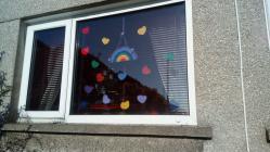 Rainbows in Windows by Lynne, April 2020