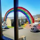 Rainbows in Windows by Emma Childs, April 2020