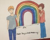 Rainbows in Windows by Ruyi, April 2020