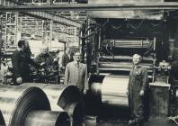 Factory workers, Rheola Works, Glynneath,...