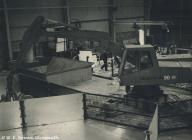Demolition work inside Rheola Works, Glyn-neath...