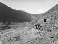 Derelict tramway incline winding house,...