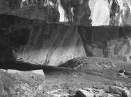 Inside open top chamber, Aberllefenni quarry