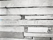 Quarrymen's initials on Aberllefenni...
